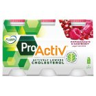 Flora Pro.activ pomegranate & raspberry 6 pack yoghurt mini drink - 6x100g