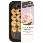 Unearthed garlic king prawns, 4 skewers - 145g
