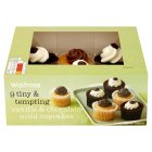 Waitrose vanilla & chocolate mini cupcakes - 9s