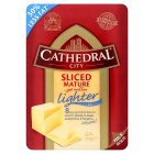 Cathedral City mature Lighter cheese, 8 slices - 150g