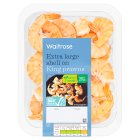 Waitrose jumbo shell on king prawns - 160g
