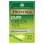 Twinings decaffeinated pure green tea 20 tea bags - 35g