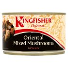 Kingfisher Oriental canned mixed mushrooms in water - drained 140g