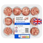 Waitrose 12 British Free Range pork meatballs - 420g