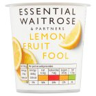 essential Waitrose lemon fruit fool - 120g