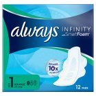 Always Infinity Normal Plus with Wings Sanitary Pads - 10s Brand Price Match - Checked Tesco.com 16/07/2014