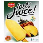 Del Monte 100% juice pineapple - 3x75ml