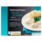 Waitrose Frozen mini cod dinner - 250g