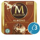 Magnum almond 3 pack ice cream - 330ml