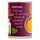 Waitrose lentil & smoked bacon soup - 400g