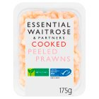 essential Waitrose cooked and peeled prawns - 175g