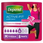 Depend Active Fit Underwear Womens Medium - 8s