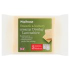 Waitrose Dewlay creamy medium Lancashire cheese, strength 3 - 300g