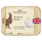 Clarence Court Burford Buffs mixed weight British free range eggs - 6s