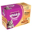 Whiskas Simply braised poultry in gravy pouch cat food - 12x85g