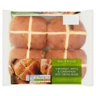 Waitrose 4 Apple & Cinnamon Hot Cross Buns - 4s