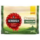 Seriously Creamy Medium Cheddar - 350g