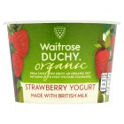 Waitrose Duchy Organic strawberry yoghurt - 140g