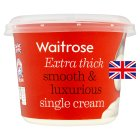 Waitrose extra thick single cream - 300ml