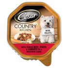Cesar in gravy tender beef slices, pasta & carrots - 150g Brand Price Match - Checked Tesco.com 23/07/2014