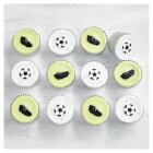 Fiona Cairns Football Cupcakes - 12x1each