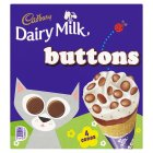 Cadbury Dairy Milk buttons 4 cones - 4x100ml Brand Price Match - Checked Tesco.com 16/04/2014