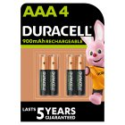 Duracell Rechargeable Precharged AAA Batteries 800mAh NiMH - 4s