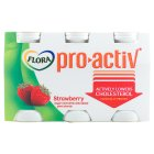 Flora Pro.activ strawberry 6 pack yoghurt mini drink - 6x100g Brand Price Match - Checked Tesco.com 28/07/2014