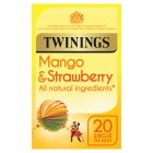 Twinings mango & strawberry 20 tea bags - 40g Brand Price Match - Checked Tesco.com 08/02/2016