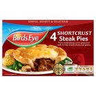 Birds Eye 4 steak pies