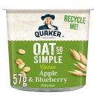 Quaker Oats So Simple apple & blueberry porridge cereal pot - 57g