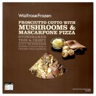 Waitrose Stone Baked mushroom, prosciutto cotto ham & mascarpone pizza