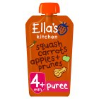 Ella's Kitchen Organic butternut squash, carrots, apples & prunes - stage 1 baby food - 120g Brand Price Match - Checked Tesco.com 27/07/2016