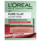 L'Oreal Pure Clay Glow Mask - 50ml