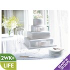 Fiona Cairns 4-tier Ribboned Wedding Cake (Sponge) - each