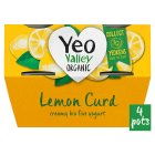 Yeo Valley 4 organic lemon curd yogurts - 4x120g