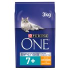 Purina ONE Senior 7+ Cat rich in chicken & whole grains dry food - 3kg