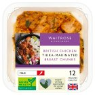 Waitrose British chicken breast chunks in tikka marinade - 300g