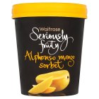Waitrose Seriously Alphonso mango sorbet - 500ml