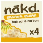 Nakd fruit & nut bars banana bread - 4x30g Brand Price Match - Checked Tesco.com 17/09/2014