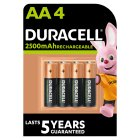 Duracell Rechargeable Precharged AA Batteries 2400mAh NiMH - 4s