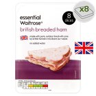 essential Waitrose British breaded ham, 8 slices - 100g