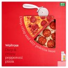 Waitrose deep & crispy pepperoni pizza