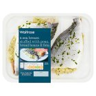 Waitrose boneless sea bream stuffed with peas, broad beans & feta - 320g