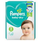 Pampers baby-dry 5 junior 11-25kg - 23s Brand Price Match - Checked Tesco.com 05/03/2014