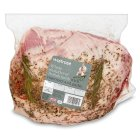 Waitrose British lamb whole shoulder with rosemary & garlic - per kg