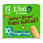 Ella's Kitchen Apple & Ginger Biscuits - 12x9g