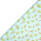 Waitrose Gift wrap blue flower 2m roll - each