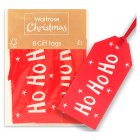 Waitrose Christmas Ho Ho Ho Tags - 8s