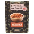 Look What We Found! Beef bolognese with fresh Italian herbs - 270g Brand Price Match - Checked Tesco.com 09/12/2013